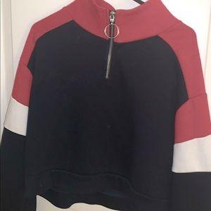 high necked multicoloured jumper
